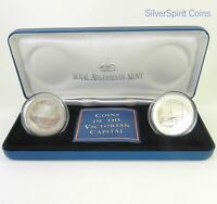 1998 $10 LANDMARK VICTORIAN CAPITAL MELBOURNE Silver Coin Set