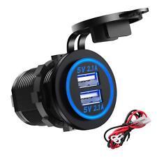 Dual USB Socket Charging Port Outlet Waterproof Car Boat Motorcycle Marine DIY