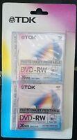 TDK DVD-RW Photo Inkjet Printable 1,4 gb  pack de 2 unidades - 1-2 x Speed