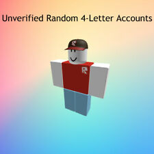 4 Letter/Character Unverified RARE Roblox Accounts!