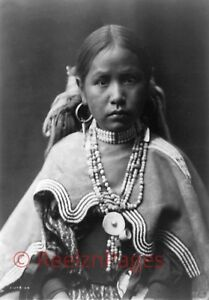 New Art Print 1905 Edward Curtis Photo Jicarilla (Apache) Maiden NM 11X17