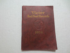 """1924 VICTOR TALKING MACHINE COMPANY """"RED SEAL RECORDS"""" CATALOG  112 PAGES"""