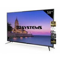 "TV 58"" Led Ultra HD 4K Smart TD Systems K58DLJ10US"