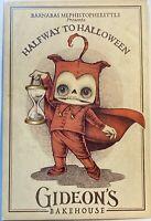 Outsider Art Halfway To Halloween Gideon's Postcard Size Menu Mephistophelittle