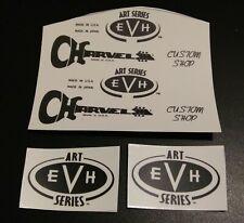 2 Charvel USA & 4 EVH Art Series guitar headstock logo decal set 4 decals total