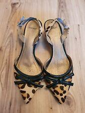 Bronx Damen Riemchen Pumps Leoparden Muster Gr.38