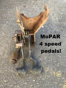 Mopar 1970 1971 early 1972 E body 4 speed pedal assembly originals from 72 'Cuda