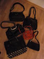 Damen Handtaschen Taschen Sammlung 6 Stück schwarz + orange