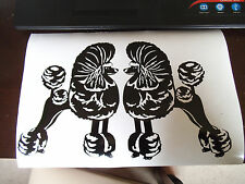 Poodle vinyl stickers, decals, for car, window