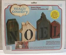 "Really Country Noel Block Village (59627) 3/4"" Solid Country Pine 1986"