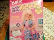 New Sealed Barbie Fashion Designer Refill Kit 1996 Make 8 Real Outfits No Sewing