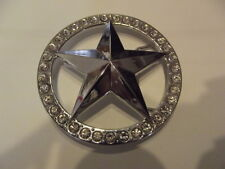 New Belt Buckle Star Wite Rhinestones Bling
