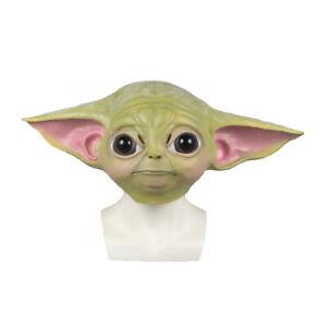 Cosplay The Mandalorian Baby Yoda Mask Fancy Dress Helmet Props Latex