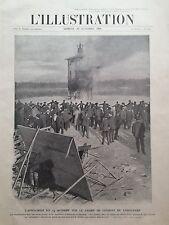 """L' ILLUSTRATION 1906 N 3321 INCENDIE DE """" LA LANTERNE D'AFFICHAGE """", A LONGCHAMP"""