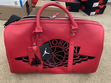 JORDAN JUMPMAN RED LEATHER Wing DUFFLE BAG W/ TAGS (NEW)
