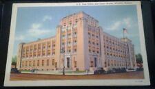 LINEN POSTCARD U.S. POST OFFICE AND COURT HOUSE WICHITA KANSAS