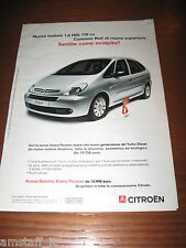 *AM32=CITROEN XSARA PICASSO=PUBBLICITA'=ADVERTISING=WERBUNG=COUPURE=