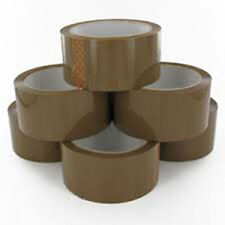 6 Rolls Brown Parcel Packing Tape
