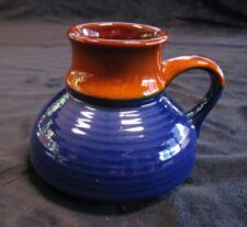 SMALL BROWN AND BLUE STONEWARE JUG