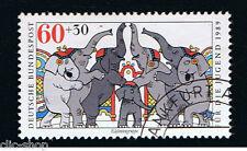 GERMANIA 1 FRANCOBOLLO PRO GIOVENTU CIRCO ELEFANTI 1989 timbrato