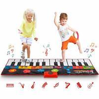 "Abco Tech Giant 70"" Piano Play Mat Jumbo Floor Keyboard 24 Keys 8 Sound Options"