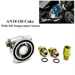 Oil Filter Sandwich Plate Thread Adapter  AN10 Oil Pressure & Temperature Sensor