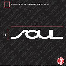 2X KIA SOUL sticker vinyl decal