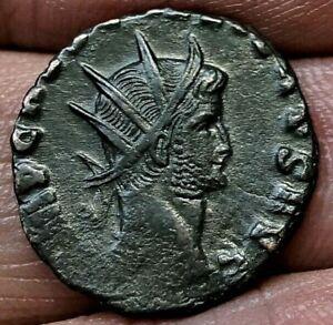 GALLIENUS, PAX AETERNA, Rome mint, 260-268 A.D, 18mm, 2.5g, Ancient Roman Coin