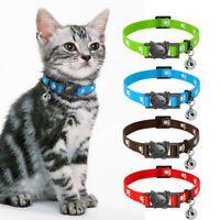 10/20pcs Nylon Breakaway Cat Dog Collar Quick Release Safety for Puppy Kitten