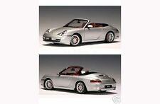PORSCHE 911 CARRERA DIE CAST MODEL SILVER 1/18 BY AUTOART 77855