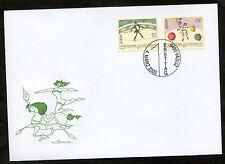 Liechtenstein 2002 FDC Mi-Nr. 1283-1284 Europa: Zirkus; Seiltänzer, Clown