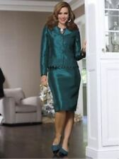 NEW WOMENS MONROE & MAIN TEAL SO SO CHIC SKIRT SUIT PLUS SIZE 16W 16 W