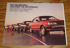 Original 1983 Subaru Full Line Deluxe Sales Brochure 83 Sedan Hardtop Hatchback