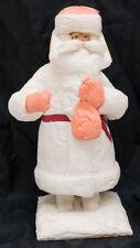 "12"" 1960's VINTAGE Paper Mache Cotton Santa CHRISTMAS XMAS Russian Ded Moroz"