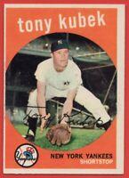 1959 Topps #505 Tony Kubek EX-EX+ WRINKLE New York Yankees FREE SHIPPING