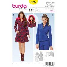 Burda Young Short Hooded Jacket Fur Chic Coat Sewing Pattern 6596
