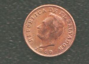 EL SALVADOR 1 CENTS 1969