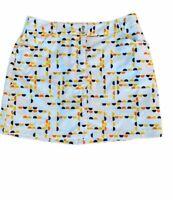 Slazenger Women's 6 Small Golf Tennis Athletic Sport Skirt Skort Navy Blue White