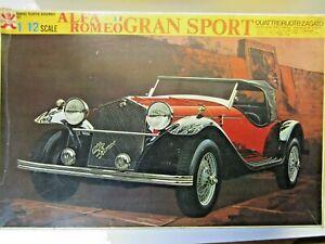 Bandai Vintage 1/12 Scale 1930 Alfa Romeo Gran Sport Quattro Zagato Model Kit
