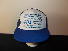 VTG-1980s Sex Excuse wife marriage joke funny trucker snapback hat sku22