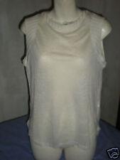 ZARA COLLECTION W&B White Linen Vest Top *NEW* Medium