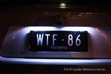 Subaru Impreza RS WRX STI RX White LED License Number Plate Lights GD GG