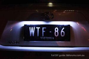 For Subaru Impreza RS WRX STI White LED License Number Plate Lights GJ GP VA
