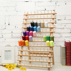 Wooden Thread Cone Rack Sewing Quilting Embroidery Holder Organizer 120 Spool