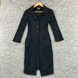 VINTAGE Very Very Australia Womens Jacket Size 8 Black Shimmer Nylon 312.07