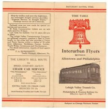 "Lehigh Valley Transit ""Interurban Flyers"" timetable PTT 4-27-1930"