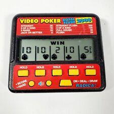 Vintage RADICA VIDEO POKER Royal Flush 2000  Electronic Handheld Game Ready