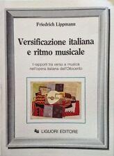 LIPPMANN Versificazione italiana e ritmo musicale I rapporti tra verso LIGUORI