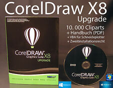 Corel Draw Graphics Suite X8 Upgrade Box + CD, Cliparts VBA Handbuch PDF OVP NEU