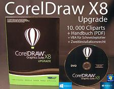 Corel Draw Graphics Suite X8 Upgrade Box + CD, Cliparts VBA Handbuch PDF OVP NEU